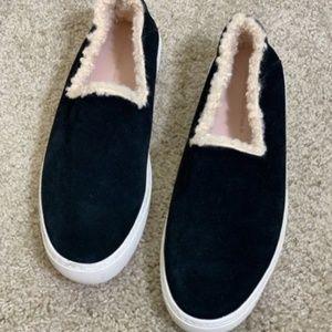Zara black faux suede sneaker Size 38